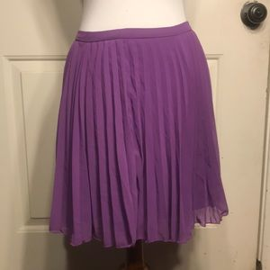 Purple Pleat Skirt NWOT